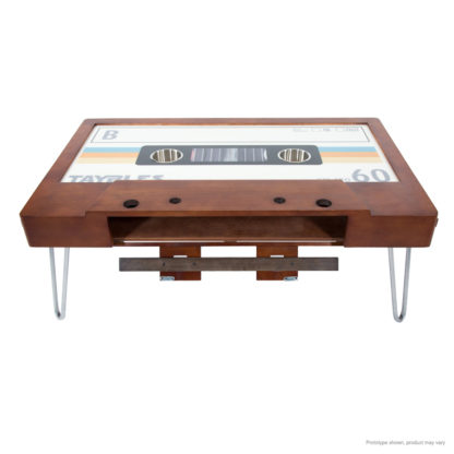 vintage cassette tape inspired coffee table