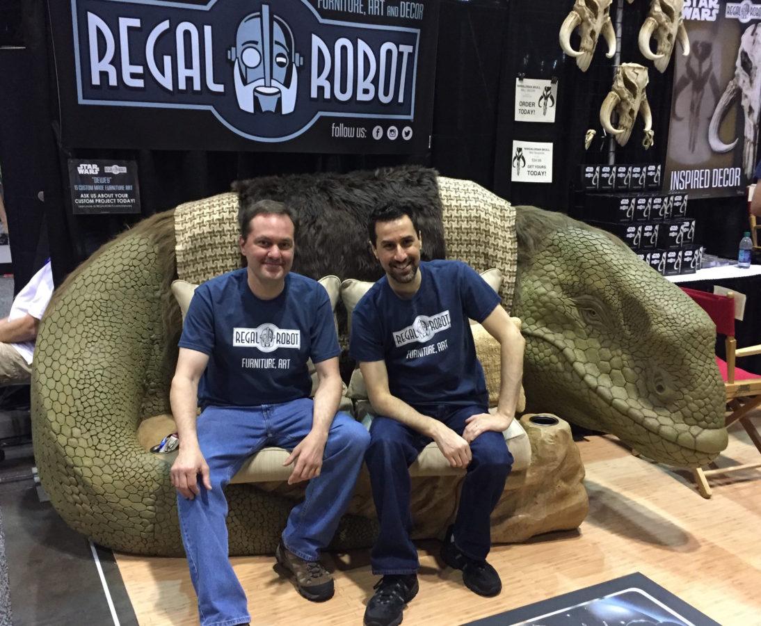Star Wars Celebration Regal Robot Booth and Dewback sofa