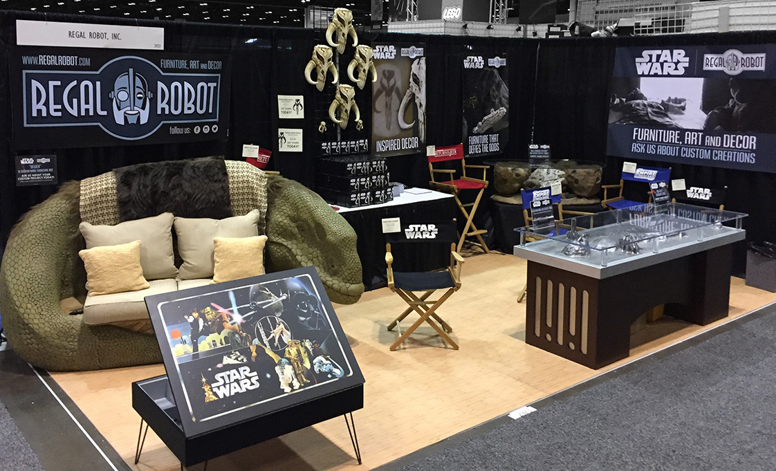 Regal Robot booth at Star Wars Celebration
