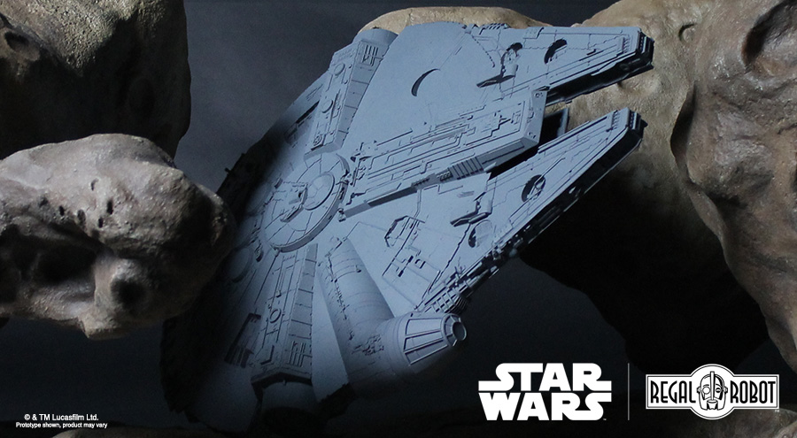 Millennium Falcon model for coffee table