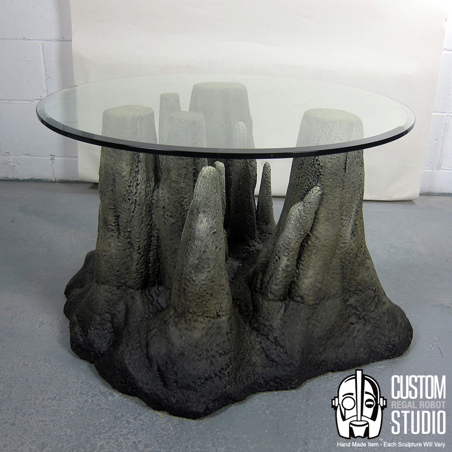 cave themed furniture, rock coffee table