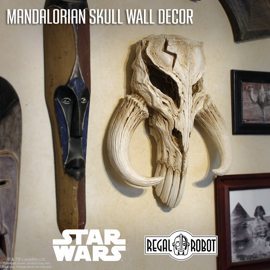 mandalorian skull wall art sculpture