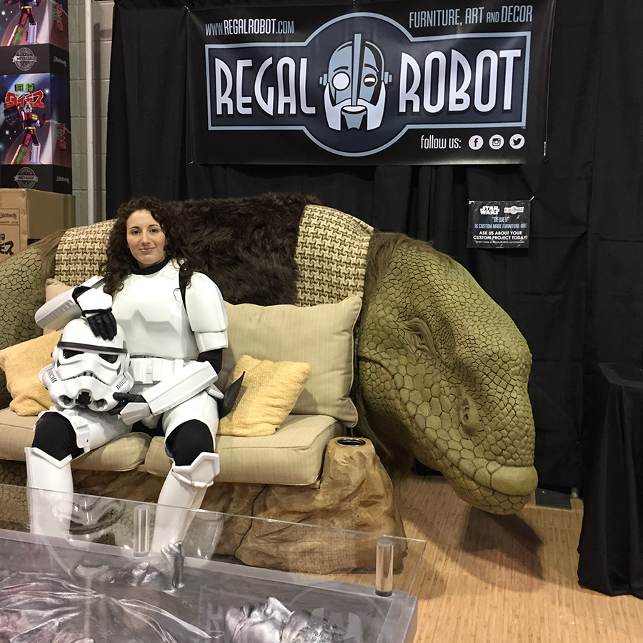 Dewback sofa with stormtrooper