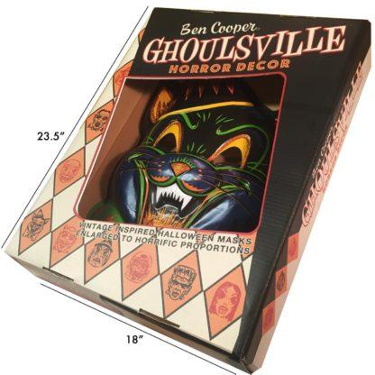 vintage style vacuform plastic halloween mask