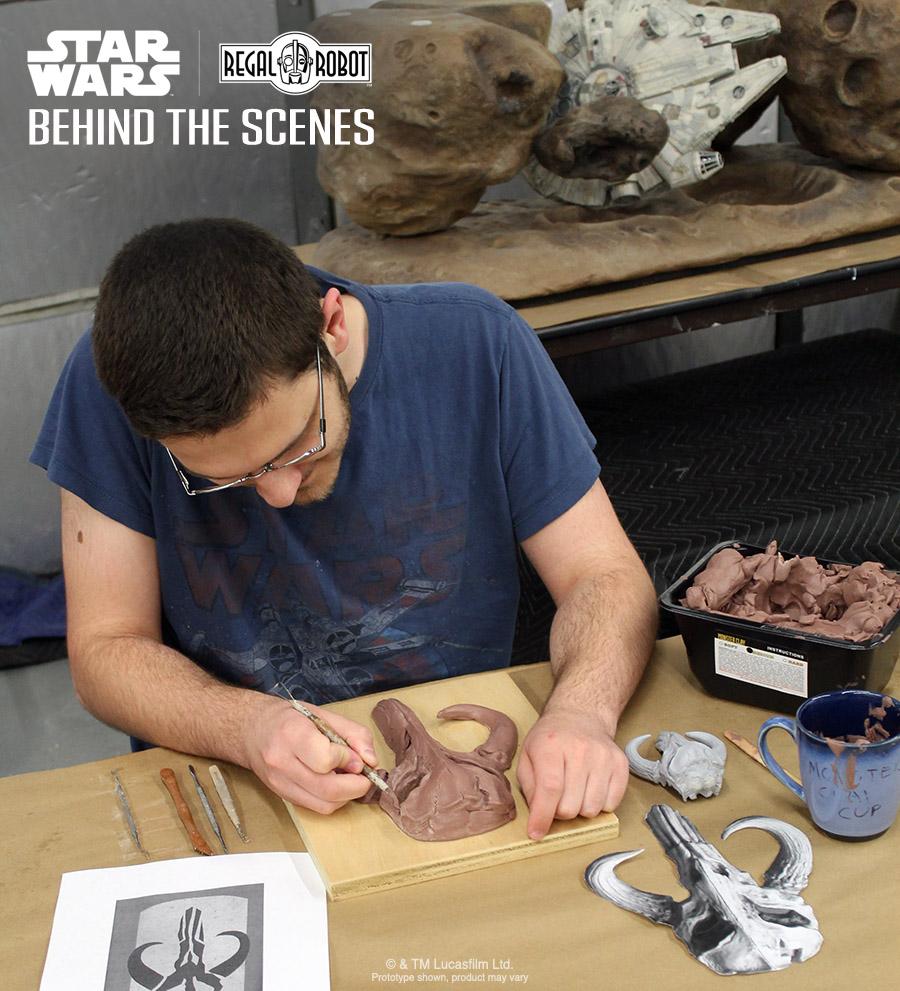 mythosaur or Boba Fett skull sculptures