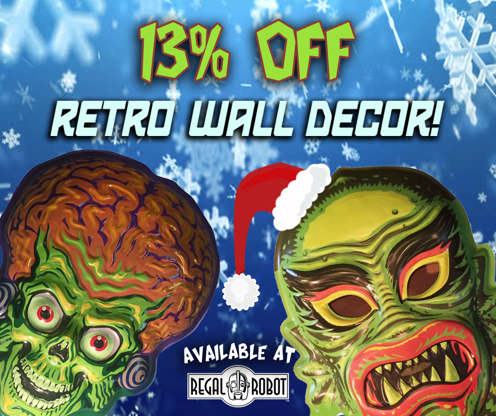 Ghoulsville wall decor masks sale