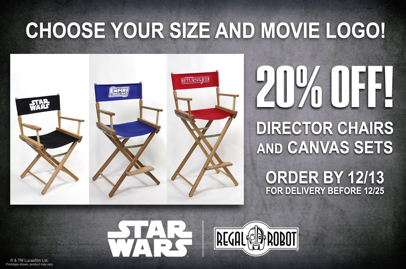 Star Wars canvas folding chair
