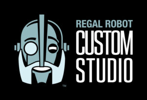 The Regal Robot Custom Studio logo