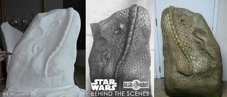 Dewback Tatooine patrol beast head