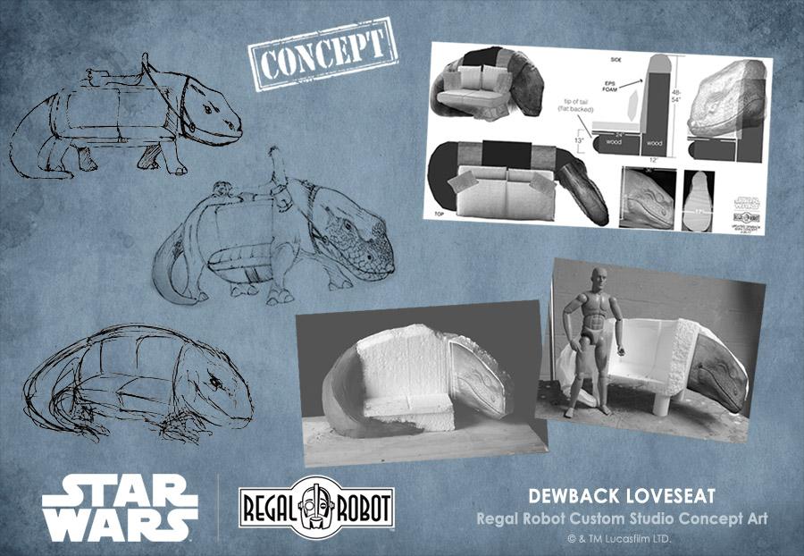 concept art for custom star wars furniture