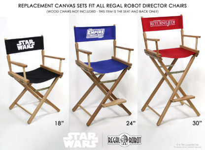 Star Wars furniture for adults, director's chair canvas replacement