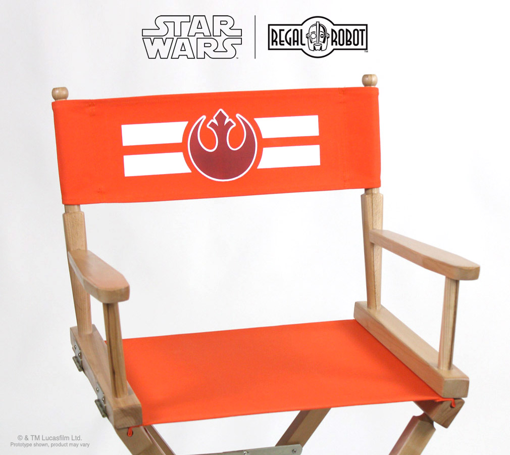 star wars rebel symbol directors chairs regal robot