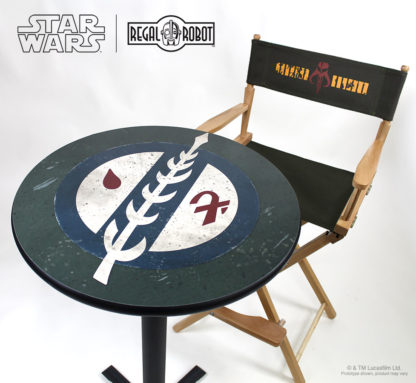 Boba Fett Mandalorian crest photo top pub table