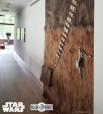 Chewbacca bandolier and bowcaster props and decor
