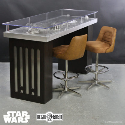 Stools inspired by Han Solo's Millennium Falcon™ and Han Solo Carbonite Table