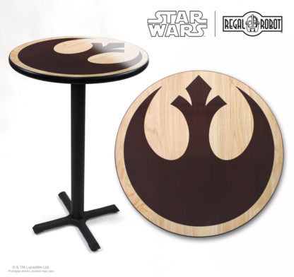 Star Wars Rebel symbol photo top pub table