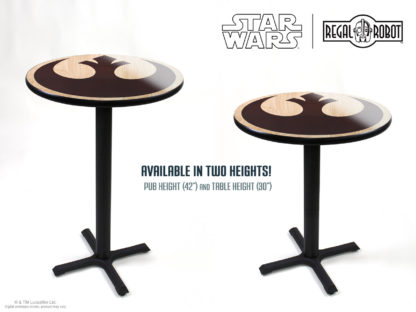 Star Wars pub or table height photo printed tables