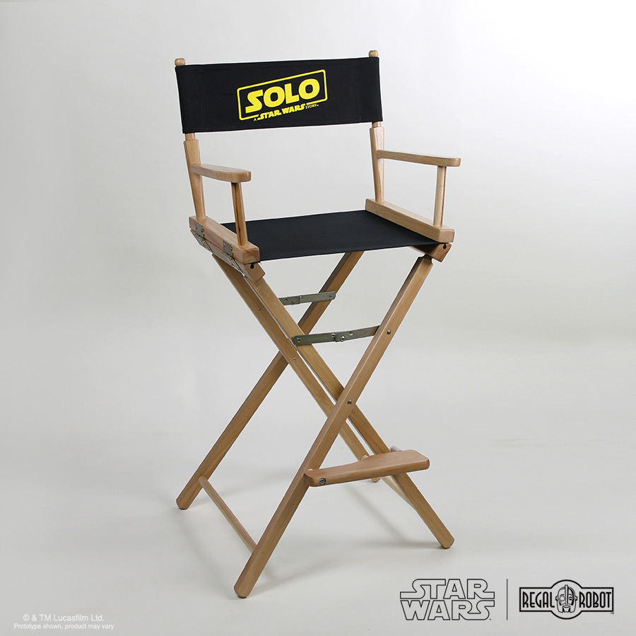 Han Solo movie director chair with canvas and folding frame