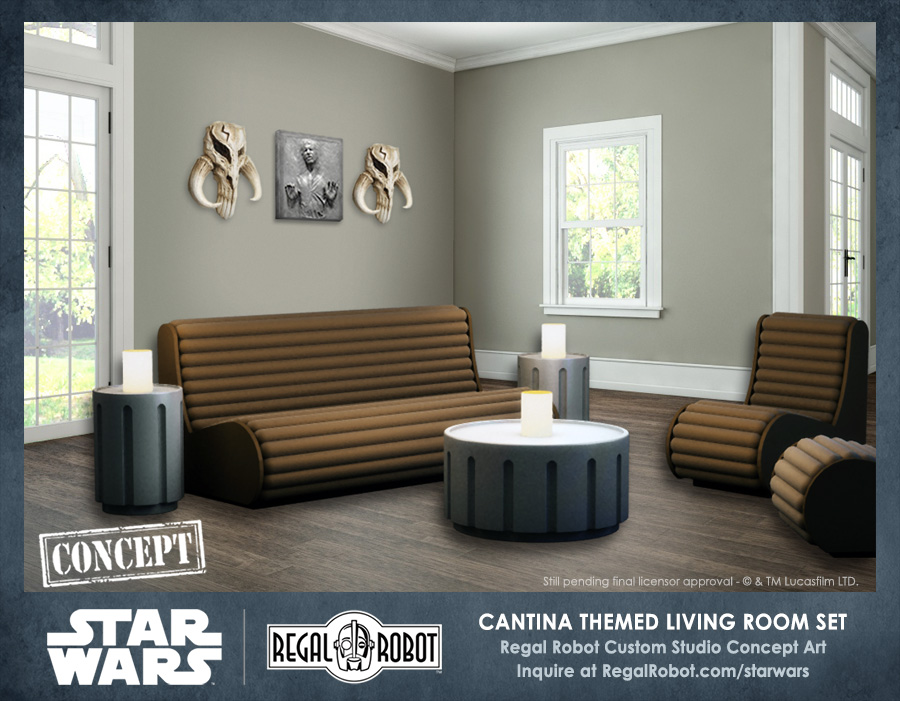 Cantina Living Room Furniture Set Concept Regal Robot