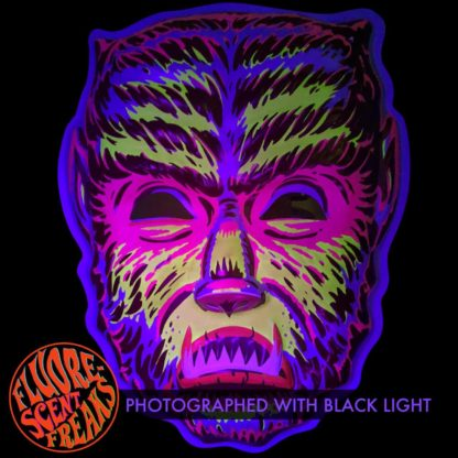 black light artwork mask wall decor