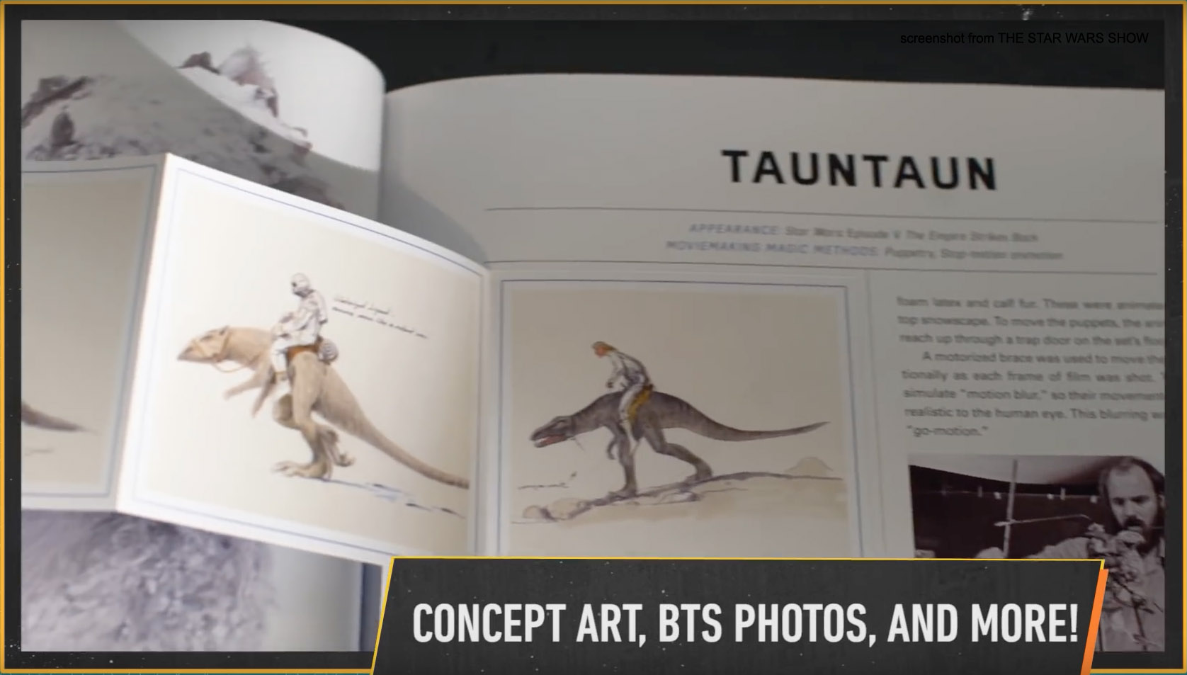 Behind the scenes Tauntaun photos and art