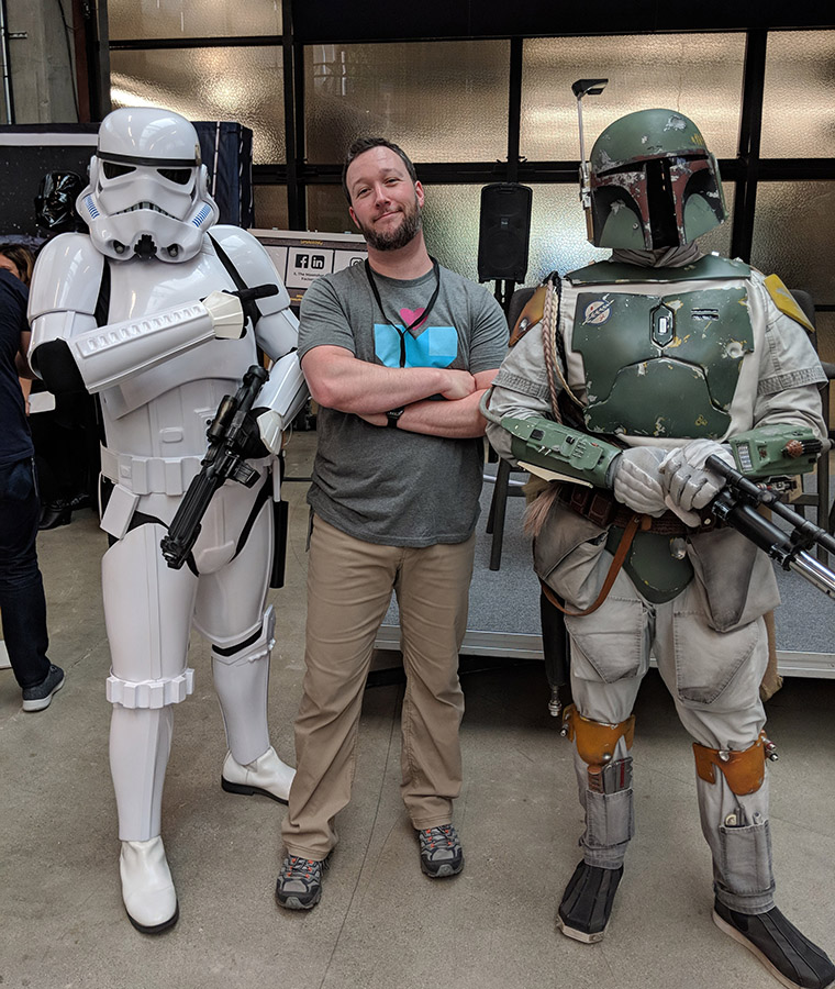 Stormtrooper and Boba Fett