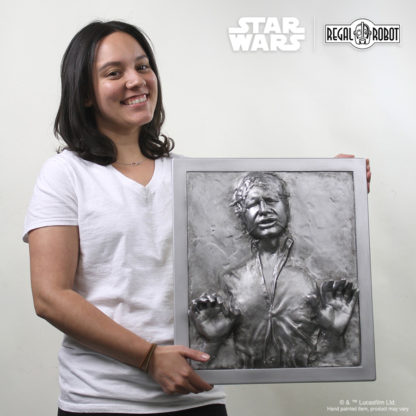 Scaled Han Solo in Carbonite plaque for wall decor