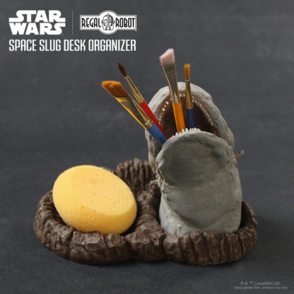 Asteroid field space slug pencil holder desk set