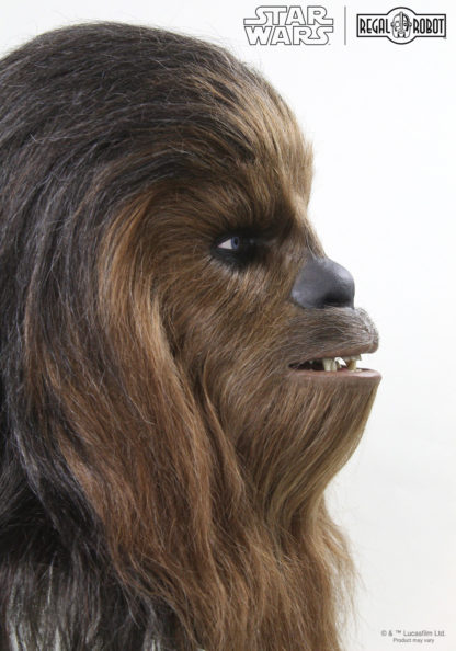 life-sized Chewbacca the Wookiee collectible bust by Regal Robot's custom character studio