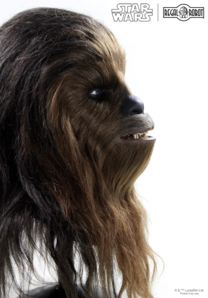life-sized Chewbacca bust collectible