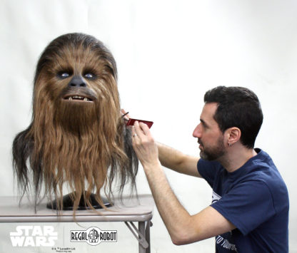 Chewbacca collectible bust hair styling