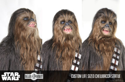 Sculpture of Peter Mayhew's Chewbacca's head or mask from Star Wars