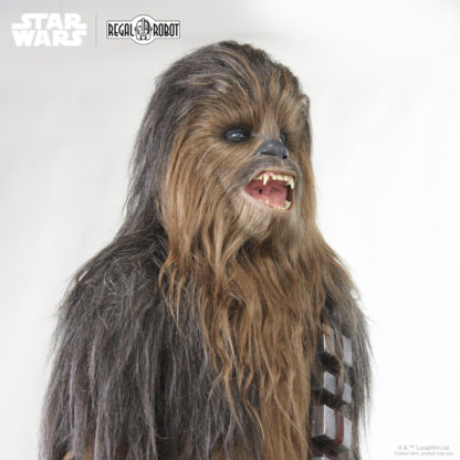 Sculpture of Chewbacca's head or mask from Star Wars