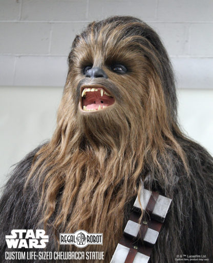 Sculpture of Peter Mayhew Chewbacca's head or mask from Star Wars