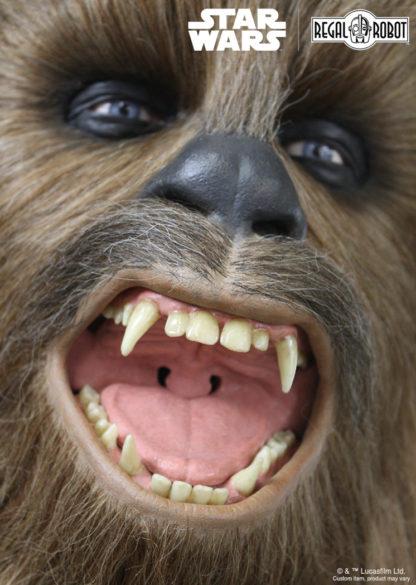 Chewbacca roaring statue
