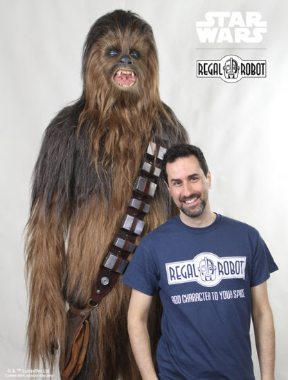 Life size chewbacca costume statue