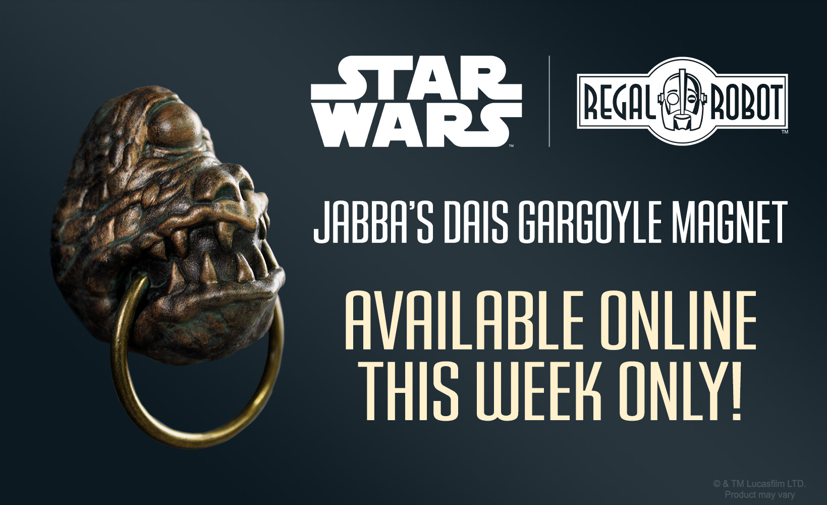 cyclops gargoyle magnet from jabba's throne from palace scene