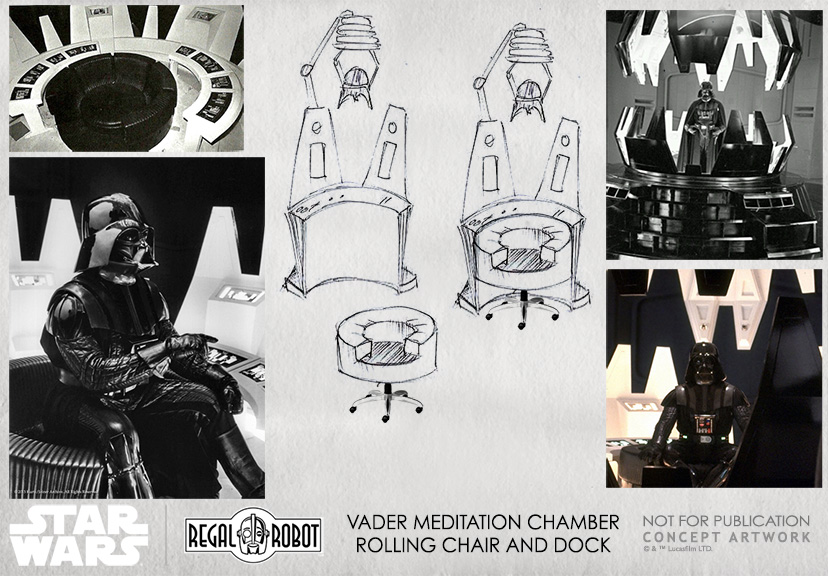 concept art for Star Wars themed furniture