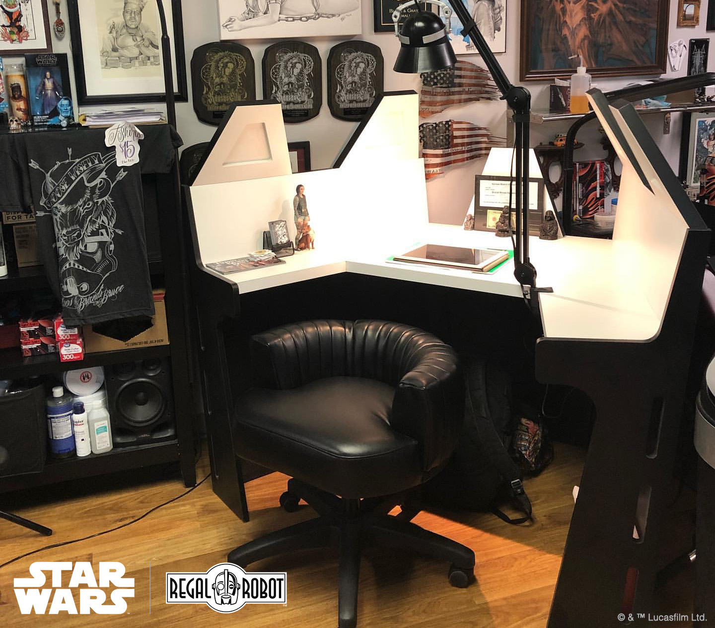 Star Wars custom Darth Vader furniture by Regal Robot