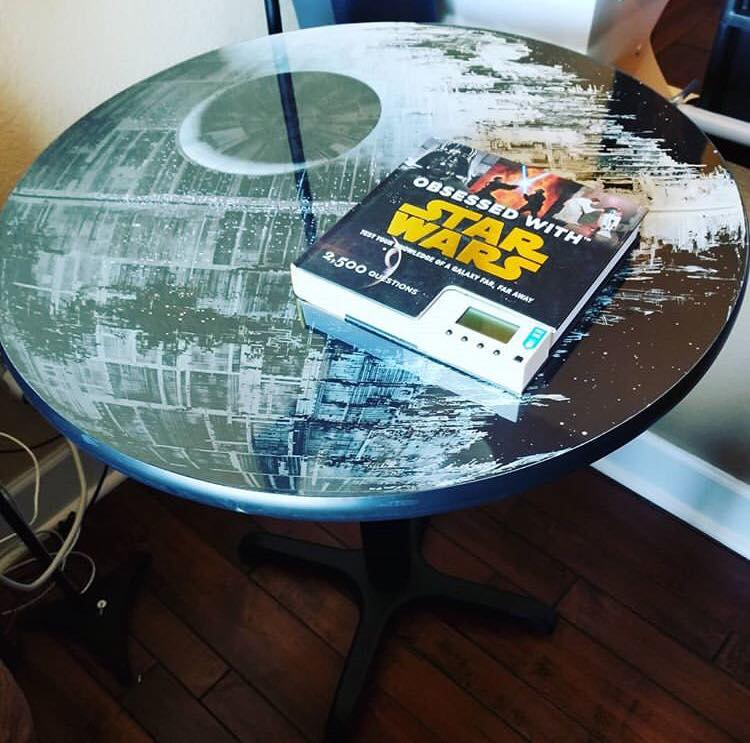 Iconic construction of Death Star Home Studio Office Furnishing Decor