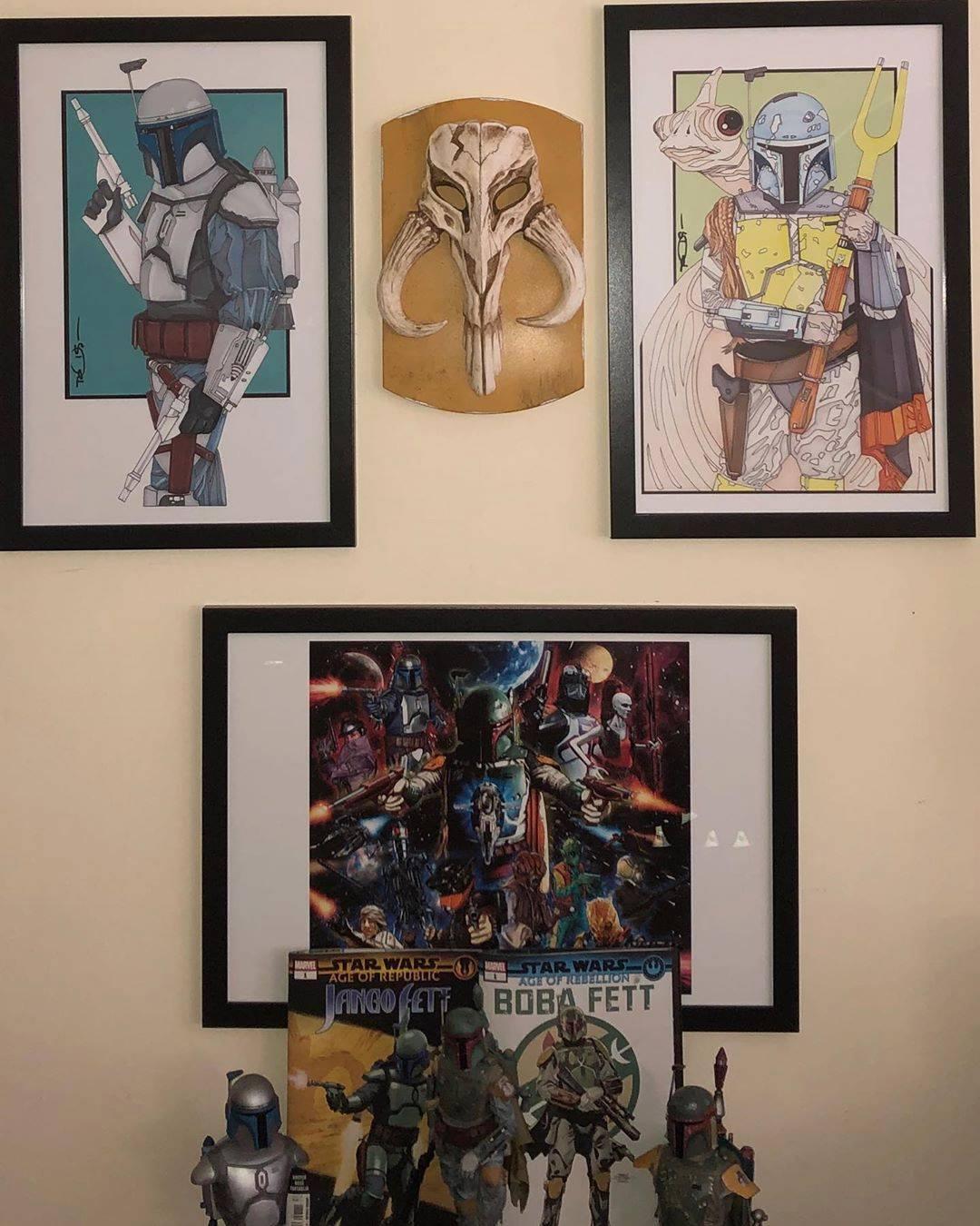 Star Wars Bounty Hunter Armor Empire Strikes Back Studio Wall Art