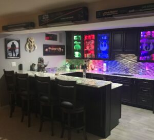 Office, Studio, Wall Art Star Wars themed kitchen