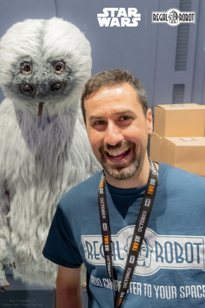 Tom Spina with Muftak the alien from Star Wars