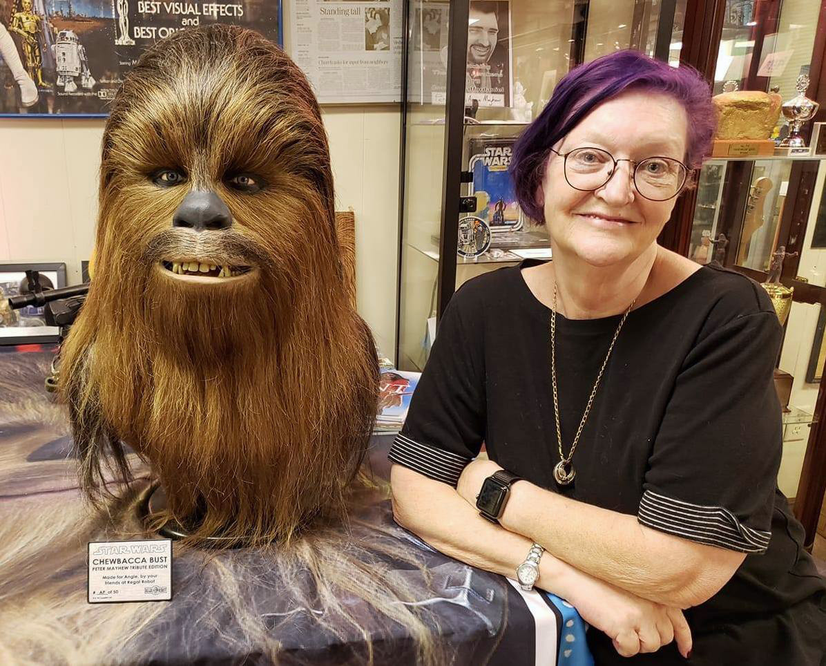 Angie Mayhew, wife of Peter Mayhew