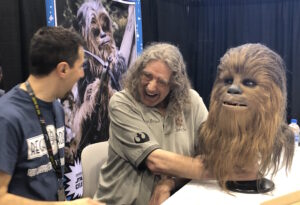 Chewbacca 1:1 bust by Regal Robot with Peter Mayhew and Tom Spina