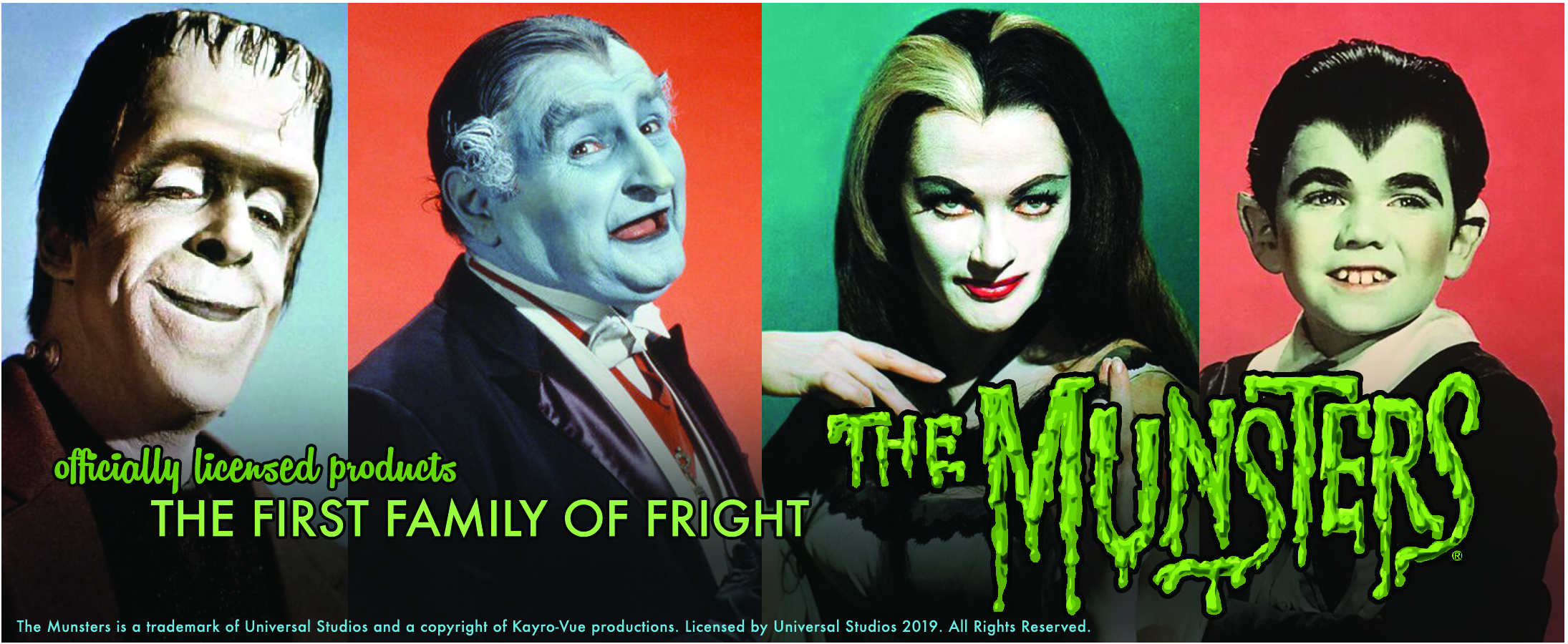 Munsters Herman Lily Eddie Grandpa