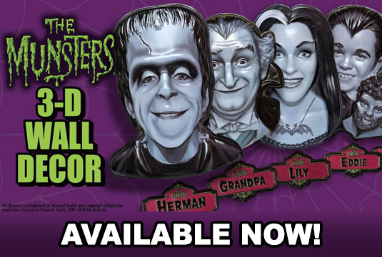 retro wall decor, The Munsters masks