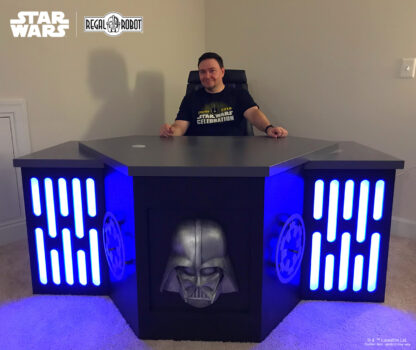 Darth Vader desk with Death Star light panels
