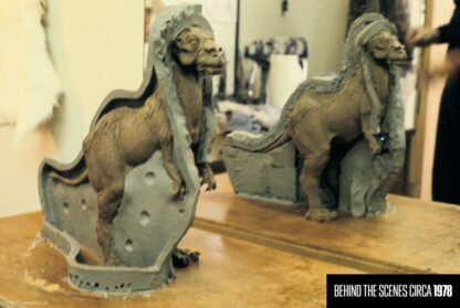 Behind the scenes Empire Strikes Back tauntaun mold and sculpture