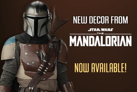 merchandise from The Mandalorian on Disney+